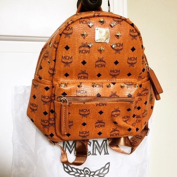 Mcm Designer mcm handbags small dual stark cognac backpack bag designer poshmark